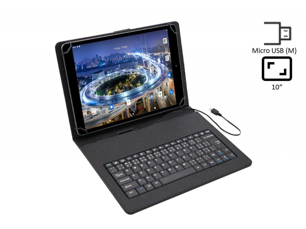 279 kozene puzdro s integrovanou klavesnicou pre 9 7 tablet microusb miniusb konektor