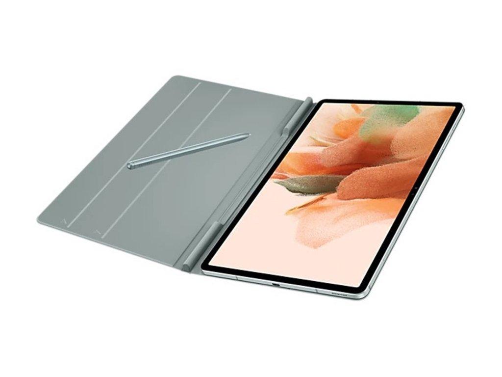 """Ochranné flipové Puzdro Samsung Galaxy Tab S7+/S7 FE 12.4"""" Sivo zelené"""