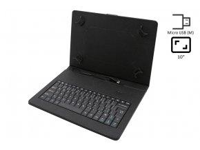 """Kožené puzdro s integrovanou klávesnicou pre 9,7"""" tablet - microUSB/miniUSB konektor"""